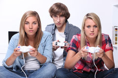 Teenagers relaxing Royalty Free Stock Photo