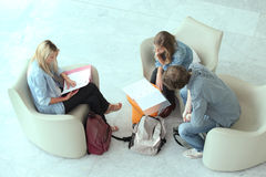Teenagers revising Stock Image