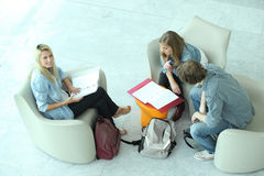 Teenagers revising Royalty Free Stock Image