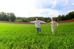 Teenagers running Royalty Free Stock Photos