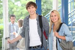 Teenagers at school Royalty Free Stock Photo