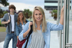 Teenagers at school Royalty Free Stock Images