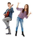 Teenagers singing Royalty Free Stock Photography