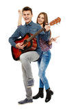 Teenagers singing Royalty Free Stock Image