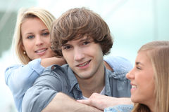 Teenagers sitting together Stock Photos