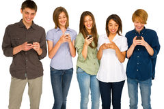 Teenagers with smartphone Royalty Free Stock Photo