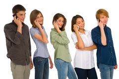 Teenagers with smartphone Stock Image