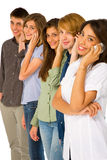 Teenagers with smartphone Royalty Free Stock Image