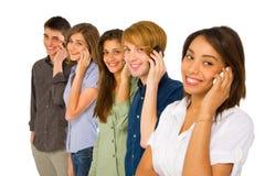 Teenagers with smartphone Stock Image
