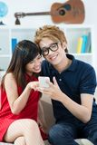 Teenagers with smartphone Royalty Free Stock Photography