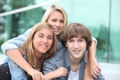 Teenagers smiling Stock Photo