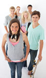 Teenagers smiling at the camera Royalty Free Stock Photos