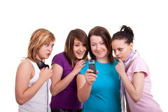 Teenagers and smses Royalty Free Stock Photography