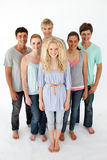 Teenagers standing in front of the camera Stock Photos