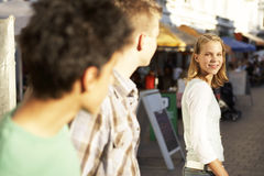 Teenagers on the street. Royalty Free Stock Photo