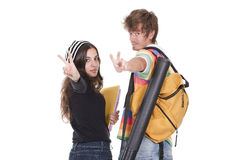Teenagers students Royalty Free Stock Photos