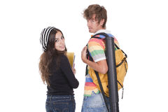 Teenagers students Stock Photo