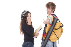 Teenagers students Stock Photos