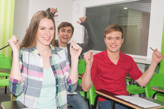 Teenagers studying Royalty Free Stock Photo