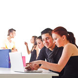 Teenagers surfing the web Royalty Free Stock Photo