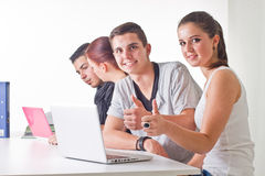 Teenagers surfing the web Royalty Free Stock Image