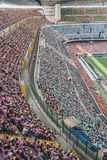 50.000 teenagers take part in a religious ceremony at San Siro stadium in Milan, Italy Royalty Free Stock Images
