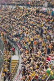 50.000 teenagers take part in a religious ceremony at San Siro stadium in Milan, Italy Royalty Free Stock Photography