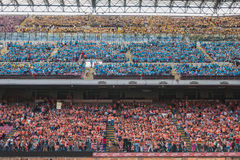 50.000 teenagers take part in a religious ceremony at San Siro stadium in Milan, Italy Stock Photos