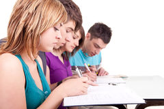 Teenagers together learning Royalty Free Stock Photography