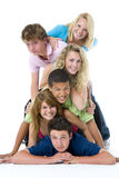 Teenagers On Top Of One Another Royalty Free Stock Images