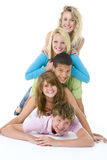 Teenagers On Top Of One Another Stock Photography