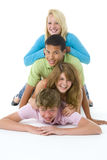 Teenagers On Top Of One Another Royalty Free Stock Image