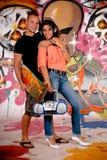 Teenagers urban graffiti Royalty Free Stock Photography