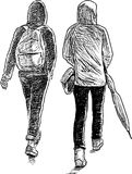 Teenagers on a walk Stock Photos