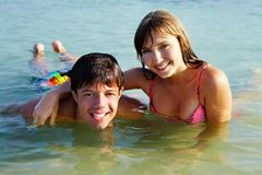 Teenagers in water Stock Photos