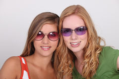 Teenagers wearing sunglasses Royalty Free Stock Image