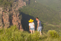 Teenagers Wilderness Summer Stock Image