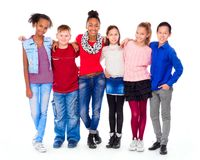 Free Teenagers With Different Clothes Standing Together Royalty Free Stock Images - 113711919