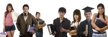 Teenagers and young adults Royalty Free Stock Photography
