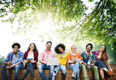 Teenagers Young Team Together Cheerful Concept royalty free stock photos
