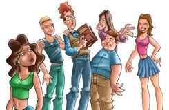 Teenagerzusammenkunft Lizenzfreie Stockbilder