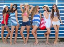 καλοκαίρι μόδας teens Στοκ φωτογραφία με δικαίωμα ελεύθερης χρήσης