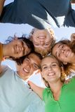 ευτυχή teens ομάδας Στοκ Εικόνες
