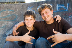 Teens stock photography