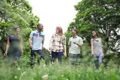 Teens active in park Stock Images