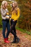 Teens in the autumn Stock Photos