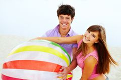 Teens with ball Stock Image