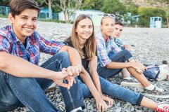 Teens Beach Stock Photos - Royalty Free Pictures