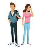 Teens boy and girl classmate friend standing Stock Photography