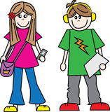 Teens boy girl. Boy and girl Royalty Free Stock Photo